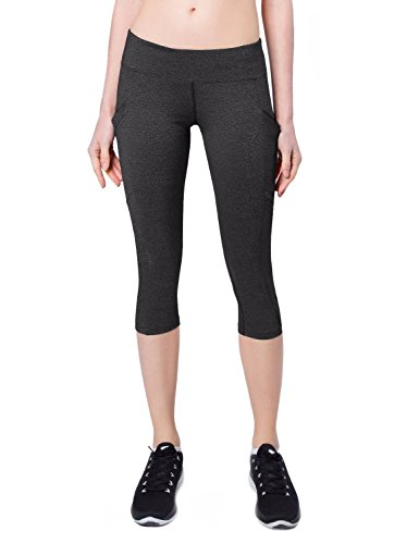 Low Rise Capri Leggings Pants - Baleaf Women's Yoga Workout Capris Leggings Side Pocket for 5.5