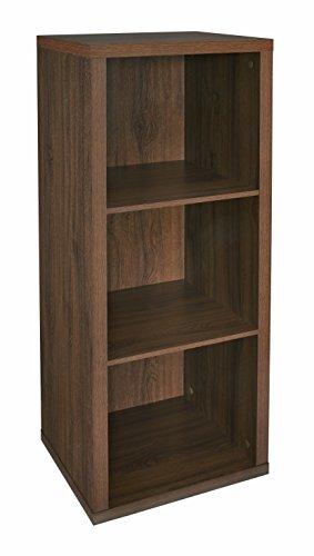ClosetMaid 6107 Decorative 3-Cube Storage Organizer, Dark Chestnut by ClosetMaid