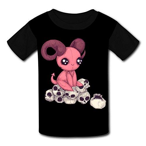 Adorable Evil T-Shirt Short Sleeve Kids Tee Shirt Black Sport 2018 for Girls Boys Black