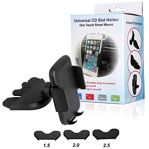 CD Slot Car Phone Mount Holder - Universal CD Slot Phone Holder for Car Compatible iPhone X 8 Plus 7 Plus 6s 6 Plus 5S Samsung Galaxy S5 S6 S7 S8 S9 S9+ Google Huawei HTC etc - Black by YipinNuo (Image #6)