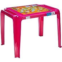 Mesa Plástica Monobloco Infantil Catty com Decoração em Inmold Tramontina Rosa