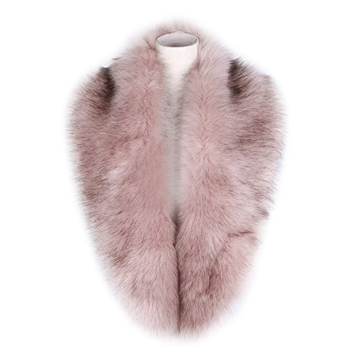 Dikoaina Extra Large Women's Faux Fur Collar for Winter Coat (Coat Faux Women Fur For)
