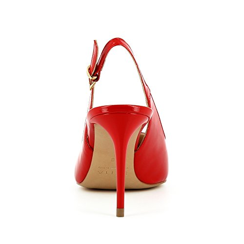 Scarpe Evita Jessica Damen Imbracatura Pompe Lackleder Rot