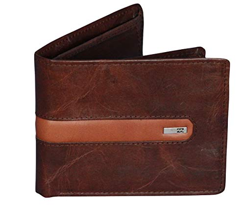 Womens Wallet Billabong - Billabong Leather Wallet With RFID protection ~ D Bah chocolate