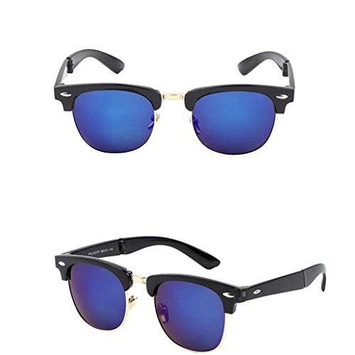 Gallity Male And Women Sunglasses Retro Driving Classic Glasses Folded Glasses with Glasses Holder Box - Folded Wayfarer