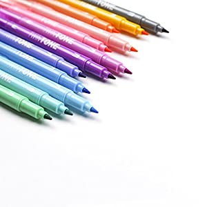 Tombow Twintone Marker Set, Pastel, 12-Pack Dual-Tip