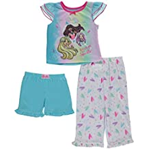 Barbie Little Girls' Toddler Love To Sparkle 3-Piece Pajama Set