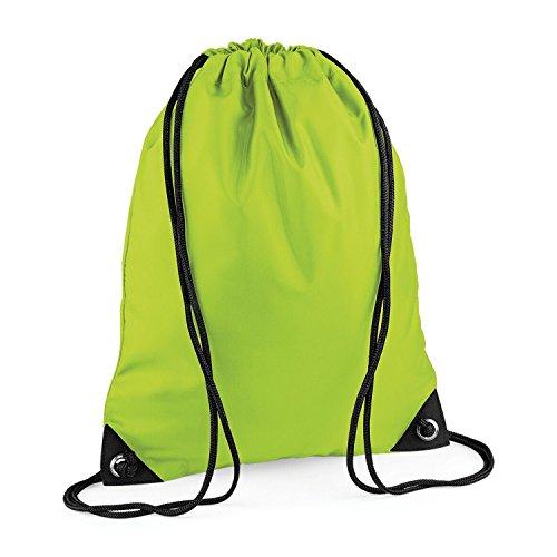 Unisex Green shoulder BagBase Zipped bag Colours Lime Retro Pocket Strap FzddwHqxg