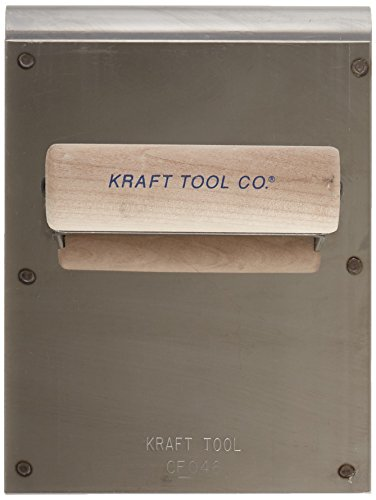 Kraft Tool CF046 Stainless Steel Hand Edger/Groover 1/2-Inch Radius with Wood Handle, 6 x 8-Inch by Kraft Tool (Image #1)