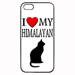 Custom Himalayan I Love My Cat Symbol Silohuette iPhone 5 5S Case Cover Hard Shell