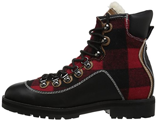 Boot Plaid Tonny Women's Hilfiger Red Hiking Tommy qUIRxW
