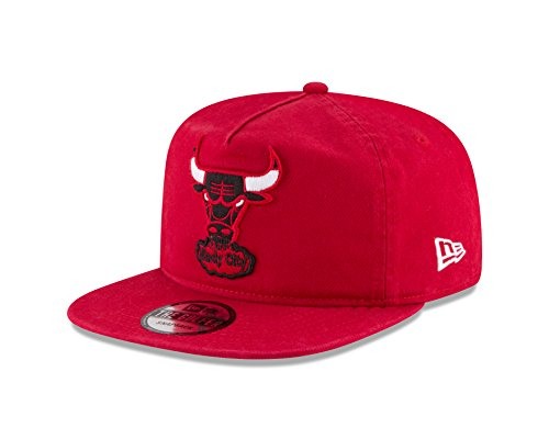 NBA Chicago Bulls Hardwood Classic Team Washed A-Frame Snapback Cap, One Size, (Red Bull New Era)