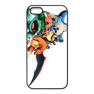 Pokemon funda iPhone 4 4s caja funda del teléfono celular del teléfono celular negro cubierta de la caja funda EEECBCAAL14040