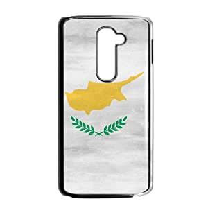 LG G2 Cell Phone Case Black_Cyprus Flag Distressed Thoff