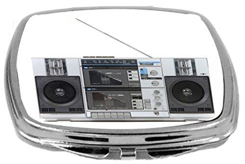 Rikki Knight Compact Mirror, Retro Boom Box Stereo