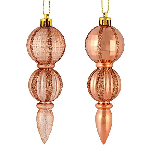 Vickerman 544495-5' Rose Gold Glitter/Matte Finial Christmas...