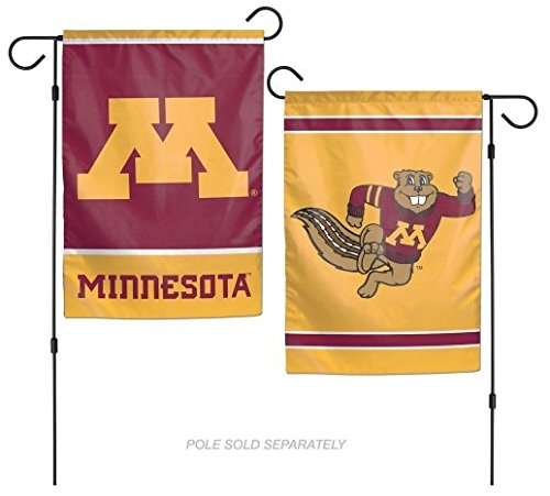 WinCraft NCAA University of Minnesota Gophers 12x18 Inch 2-Sided Outdoor Garden Flag Banner