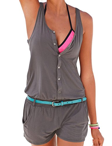 V-Neck Sleeveless Beachwear - 3