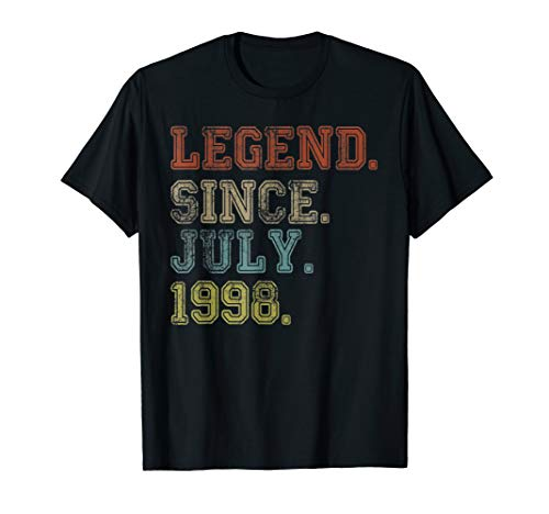 Legend Since July 1998 21st Birthday 21 Years Old TShirt