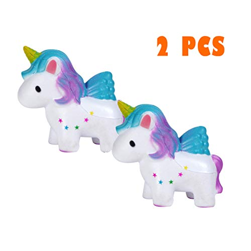 USHF Squishies Slow Rising Jumbo Kawaii Cute Colored Unicorn Creamy Scent for Kids Party Toys Stress Reliever Toy 2 -