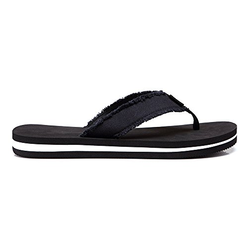 aaf87f1ea70 Men s Flip Flops Beach Sandals Lightweight EVA Sole Comfort Thongs (8.5