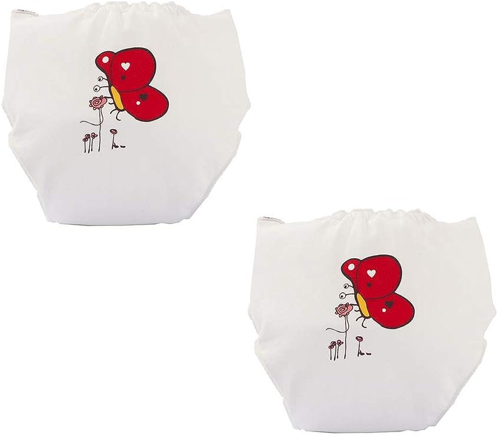 mama stadt 2er Pack Neugeborenes Baby Pants Kinder Unterw/äsche Baumwolle Waschbare Atmungsaktiv Unterhosen T/öpfchentraining