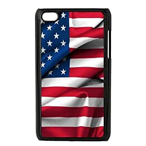 Customised iPod Touch 4 Case, Usa Vintage Flags quote personalised Phone Case