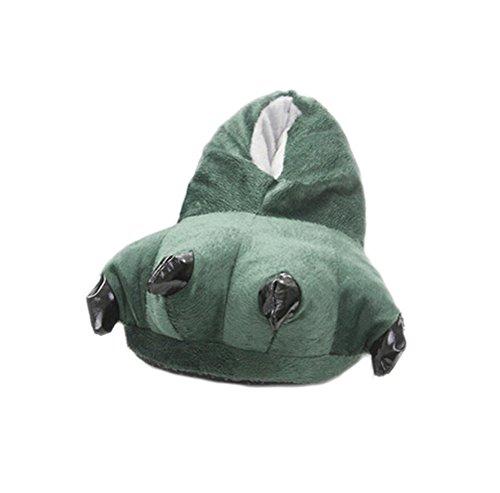 DELEY Unisex Cosplay Animal Traje de Felpa Home Zapatillas Pijama Zapatos Verde