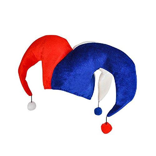 Jester Hat Craft - Patriotic Pom Pom Jester Hat