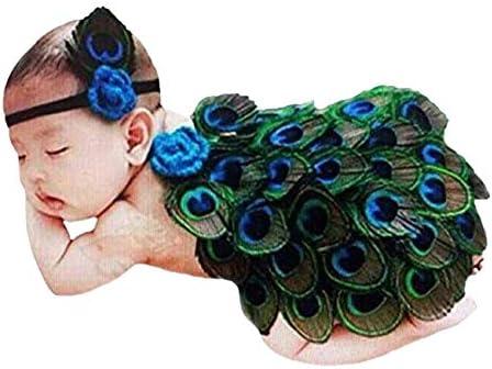 THEE Disfraz de Fotografía de Pavo Real Bebé Recién Nacido Costume ...