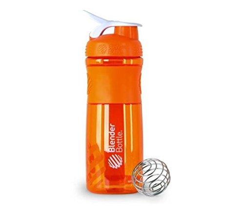 BlenderBottle SportMixer Protein Shaker Cup 28 oz Blender Bottle Sport Mixer Health & Fitness (Orange)
