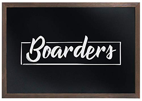 (Deluxe Rustic Torched Magnetic Chalkboard (Large Format) - 24
