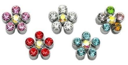 3/8'' Slider Flower Charm Multi-Color 3/8 Case Pack 48 3/8'' Slider Flower Ch... by DSD