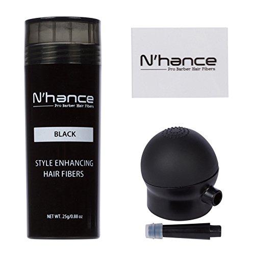 N'Hance Pro Barber Hair Fibers + Applicator (Pro Applicator)