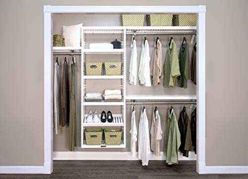 John Louis Home 12in. Deep Woodcrest White Premier Organizer (Organizer Closet John Louis)