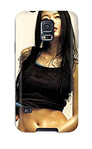 Awesome Jun Ji Hyun South Korean Actress Flip Case With Fashion Design For Galaxy S5