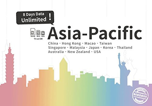 Asia-Pacific Unlimited data / 8 days Japan, China, HK, US, AU, NZ... US seller