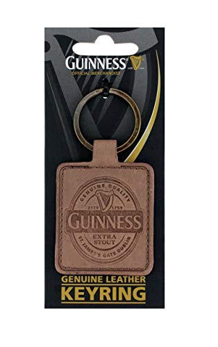 (Guinness Genuine Brown Leather Keyring)