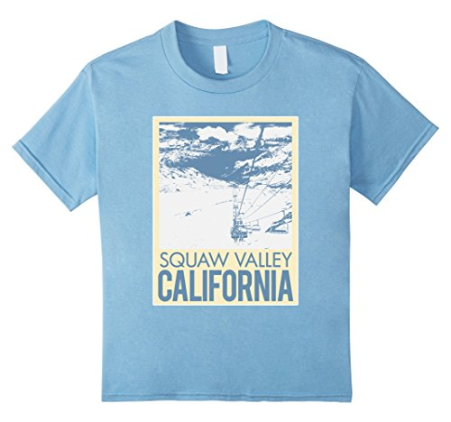 Kids Squaw Valley California T Shirt Winter Ski Resort 12 Baby - California Fashion Valley