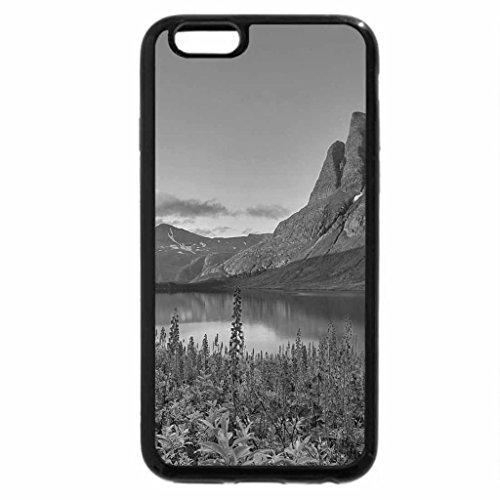 iPhone 6S Plus Case, iPhone 6 Plus Case (Black & White) - fantastic flowering landscape