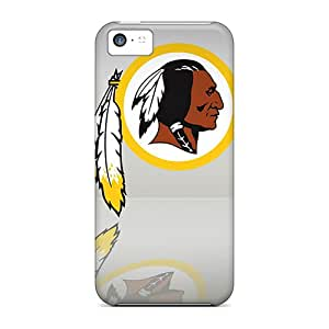 Iphone 5c Hard Back With Bumper Silicone Gel Tpu Cases Covers Washington Redskins