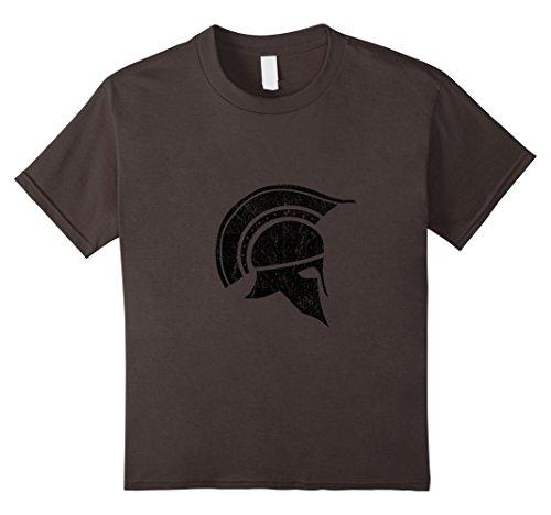 Kids Vintage Greek Spartan Warrior Helmet T-Shirt 8 Asphalt (Greek Helmet For Kids)