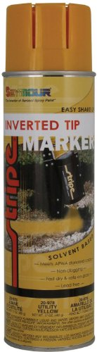 Seymour 20-978 Stripe Solvent Base Inverted Tip Marker, Utility Yellow