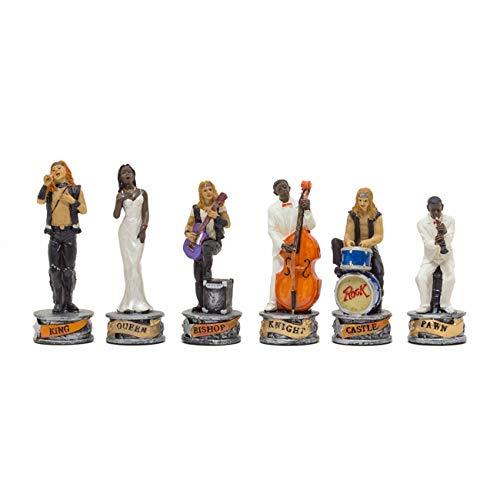 (Regencychess The Jazz Band Vs Rock Stars Hand Painted Themed Chess Pieces by Italfama)
