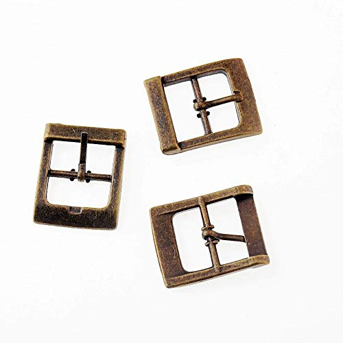(Free 5PCs Buckles for Shoes Bag Clothes Accessory Antique Bronze 3.3x2.7cm(Inside Wide:20mm), F1187)
