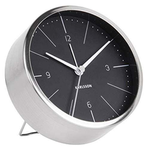 Karlsson Table Clock, Steel, Black, One Size