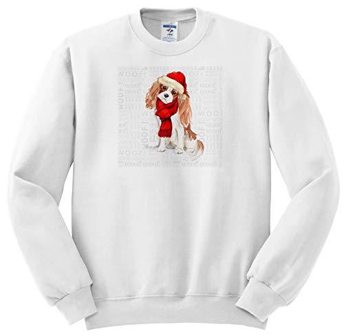 Doreen Erhardt Christmas Collection - Spaniel Lover Cavalier King Charles Dog Holiday Ready - Sweatshirts - Youth Sweatshirt Large(14-16) ()