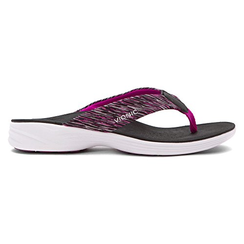Vionic Serene Kapel mujeres open toe sintético morado Flip Flop sandalias Negro