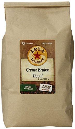 Lola Savannah Crème Brulée Whole Bean Coffee - Flavored Arabica Beans with Luscious Vanilla Custard & Caramel | Decaf | 2lb Bag ()