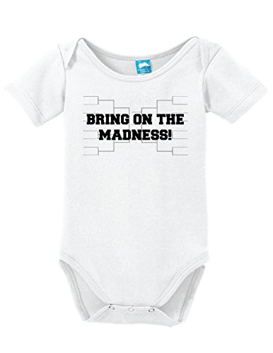 - Bring On The Madness Printed Infant Bodysuit Baby Romper White 0-3 Month